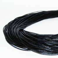 4M Black Genuine Leather 2.5mm Round  Cords